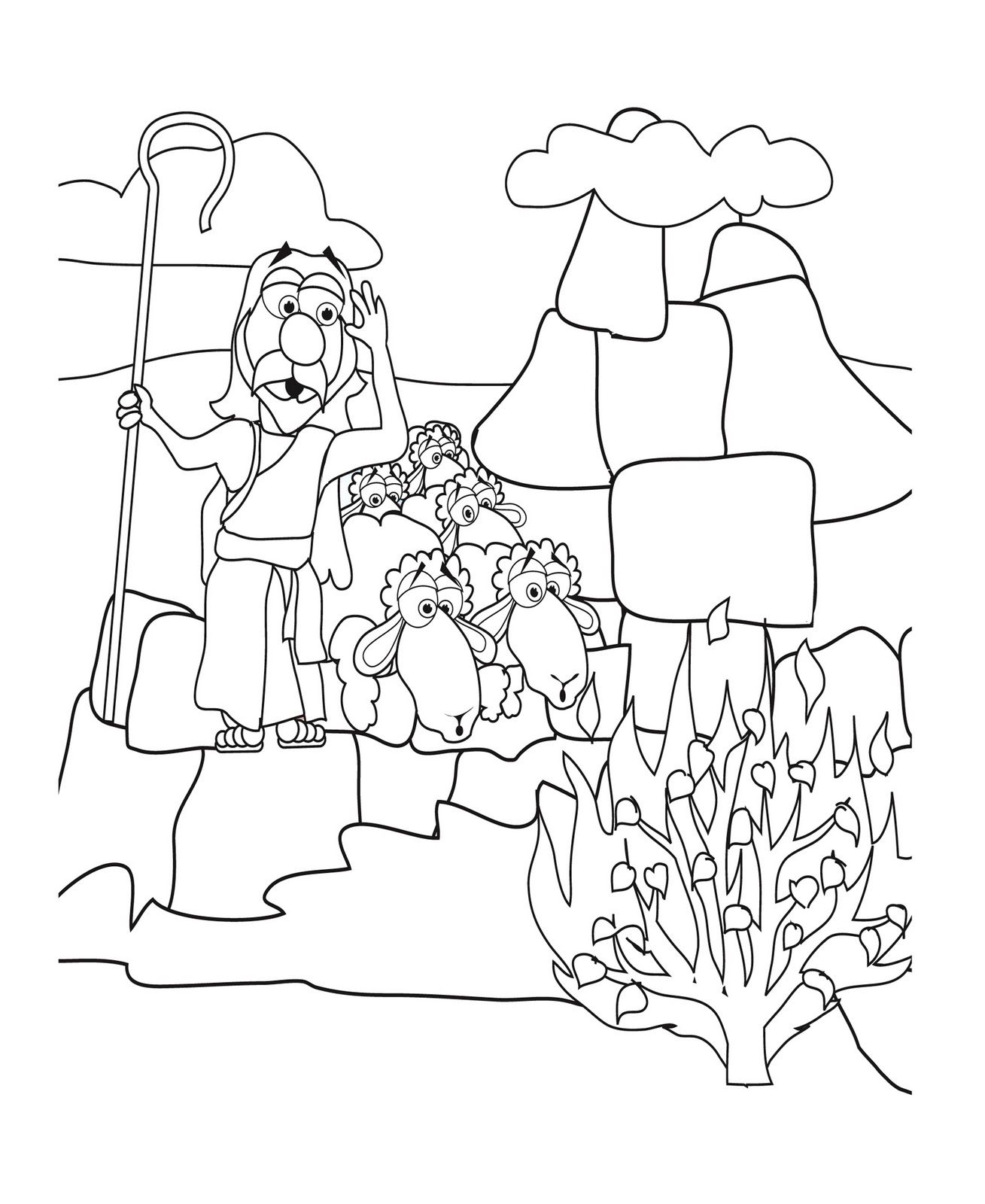 Printable coloring pages moses burning bush - Image Result For Hebrew Roots Coloring Page Printable