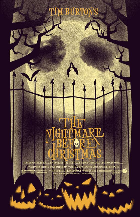 the nightmare before christmas alternative movie poster by jacob mcalister youfoundjacobcom - The Nightmare Before Christmas Poster