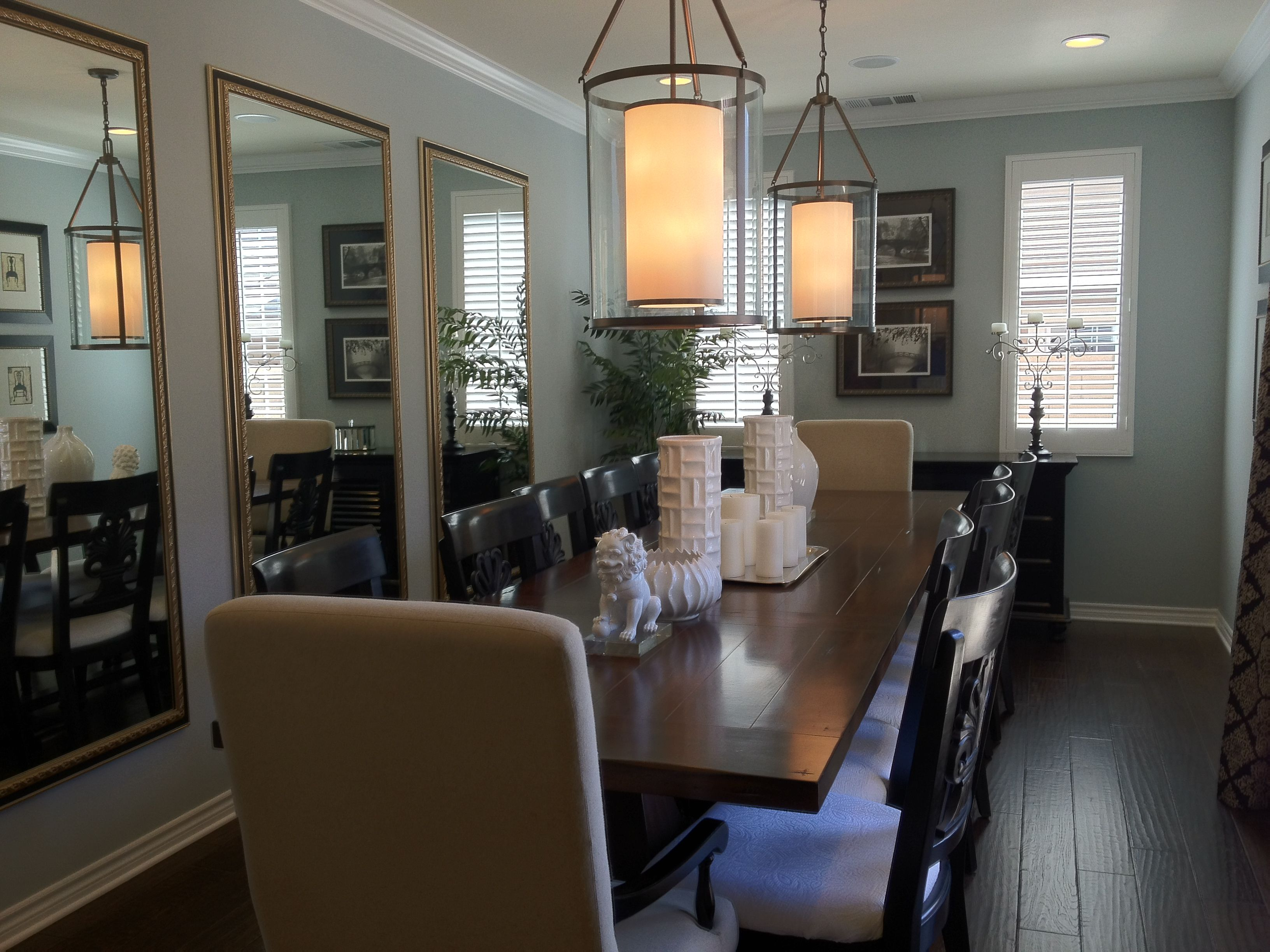 Mirrors To Help A Narrow Dining Room Look Larger Interesting