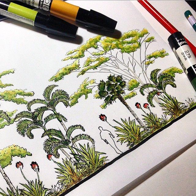 Landscape architecture rboles pinterest landscape for Landscape design sketches