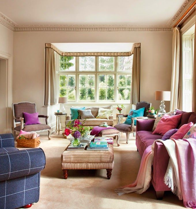 Colorful English Country Home English Country Decor Living Room Classic Style Interior Home Decor