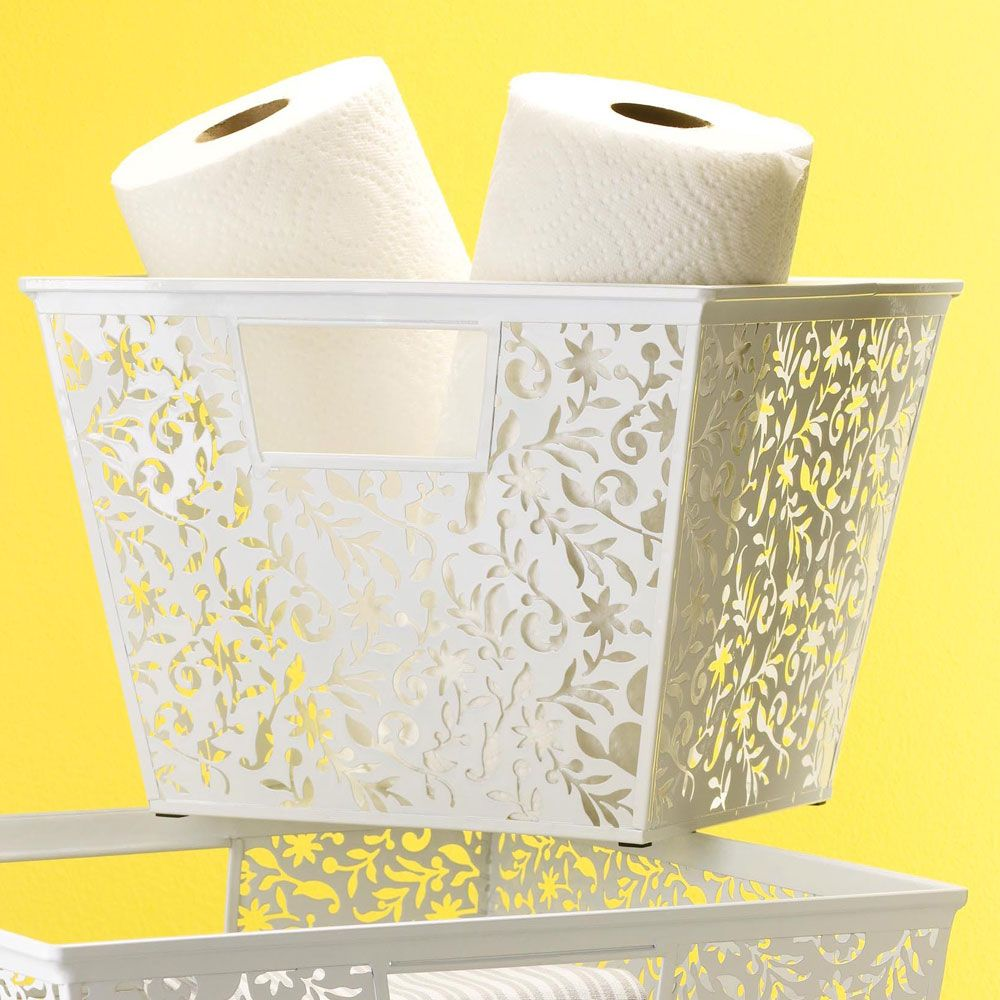 Vinea Storage Basket - Large White | Organize.com $18 Features ...