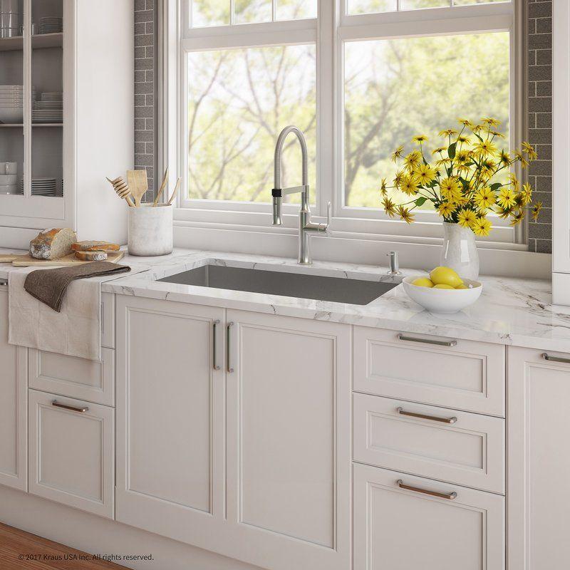 Handmade Series 32 X 19 Undermount Kitchen Sink With Faucet And Soap Dispenser Farmhouse Sink Kitchen Rustic Kitchen Sinks Kitchen Decor Modern