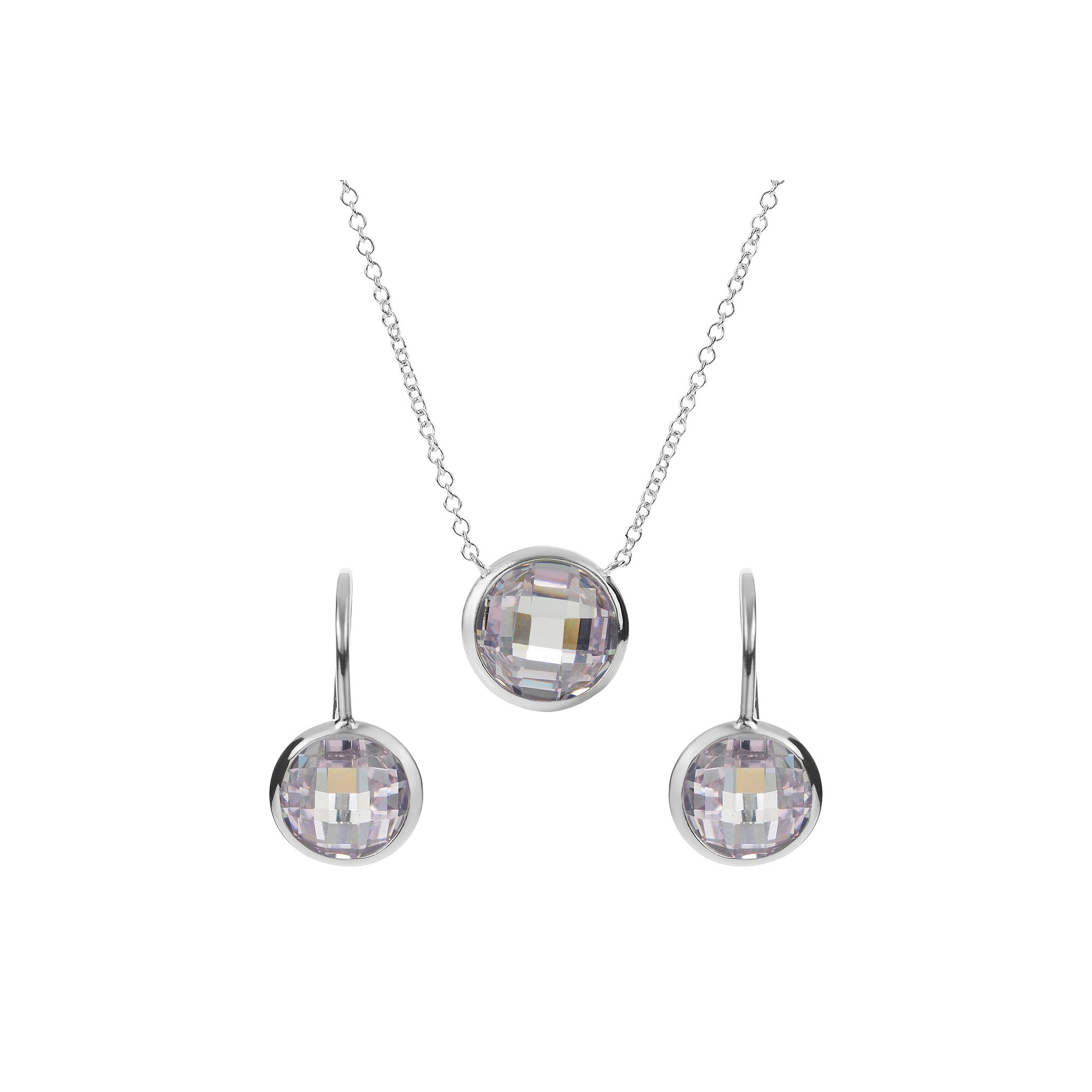 Tressa collection sterling silver cubic zirconia earrings and