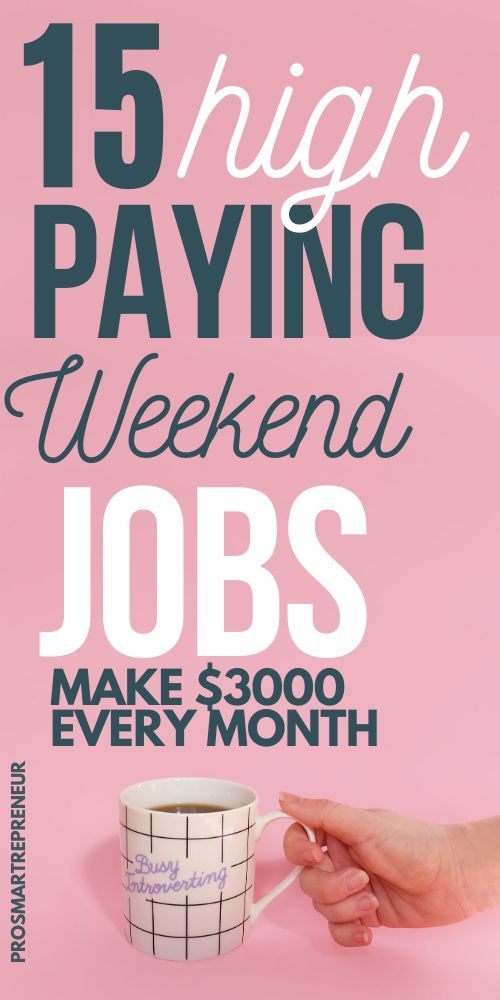 15 High Paying Weekend Jobs That Makes Good Money