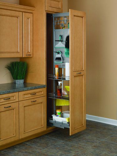 pull out utility cabinet - Google Search | Tall cabinet ...