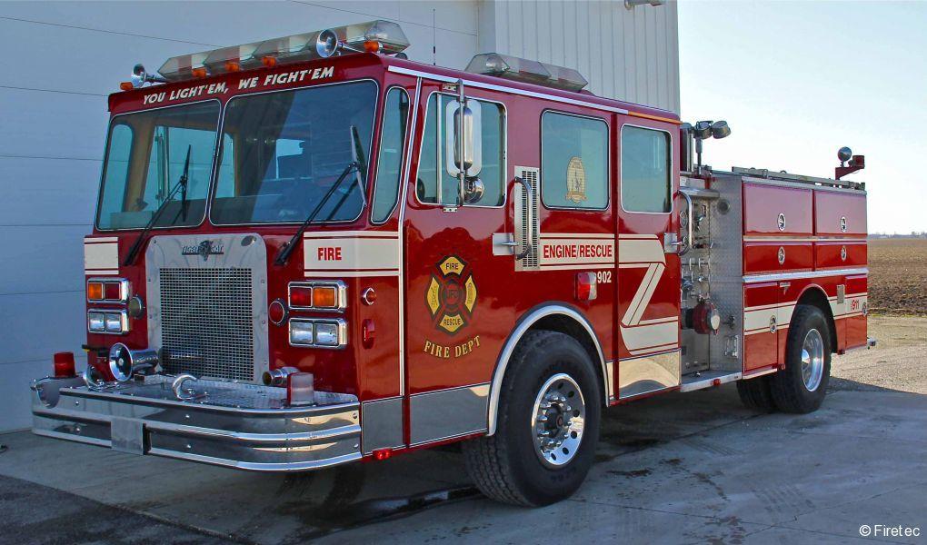 Used Fire Truck  1985 Spartan Grumman Tiger Cat Gladiator
