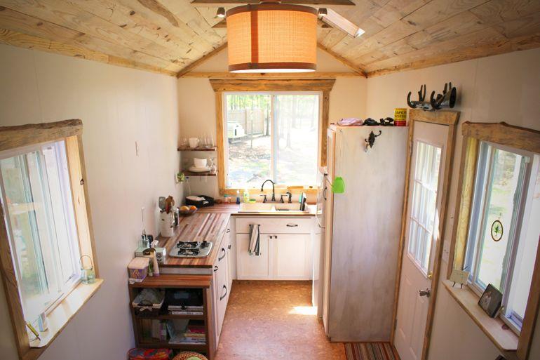 Big Nice House Inside couple building semi trailer tiny house | portable tiny homes