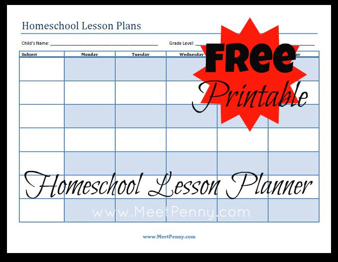 Blueprints Organizing Your Homeschool Lesson Plans Planner