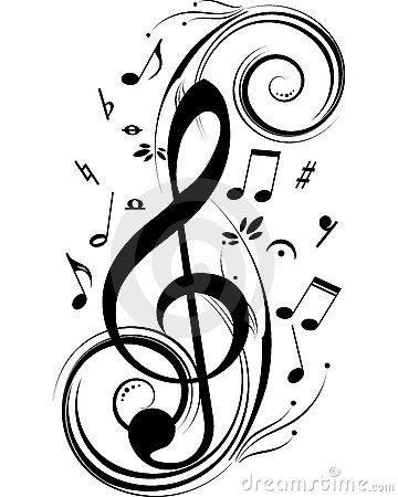 Fridays 5 Loves 4513 Cute Tatuagem Notas Musicais Clave De