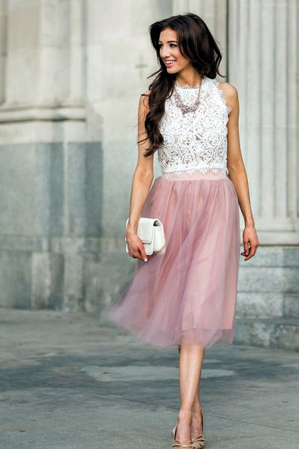 103f35e5ed Keep The Style On With These 30 Tulle Skirt Outfits | Stylish Summer ...