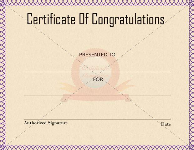 Congratulation Certificate Templates Certificate Template - congratulation templates