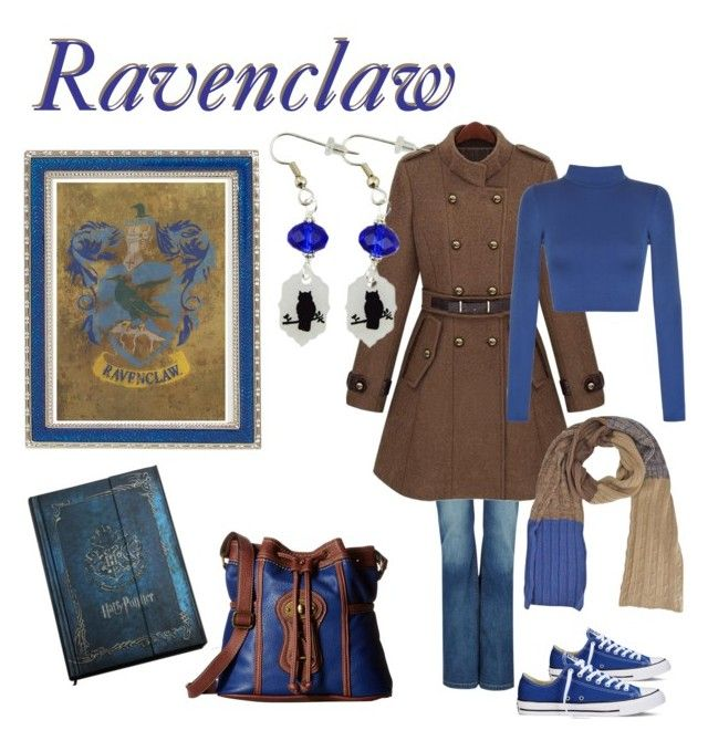 """""""Ravenclaw"""" by uniquecreationsbyamy ❤ liked on Polyvore featuring Haffke, b.o.c. Børn Concept, Converse and WearAll"""