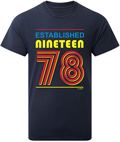 From 9.99 40th Birthday Gifts Established Nineteen 78 (1978) T-shirt Mens -