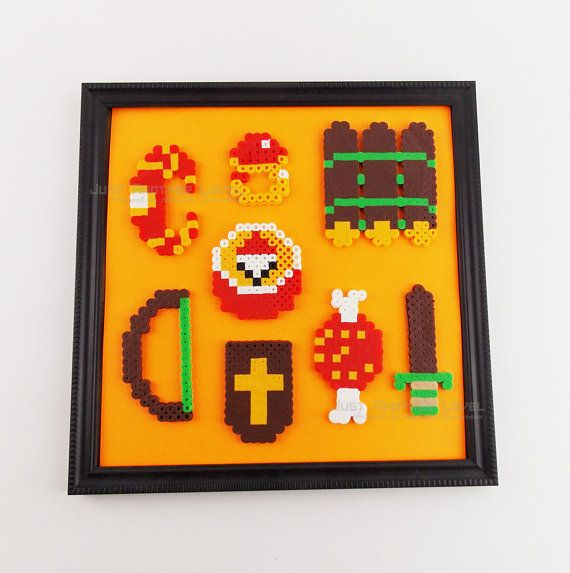 Legend of Zelda NES Items Framed - Modern Minimalist Decorative Wall ...