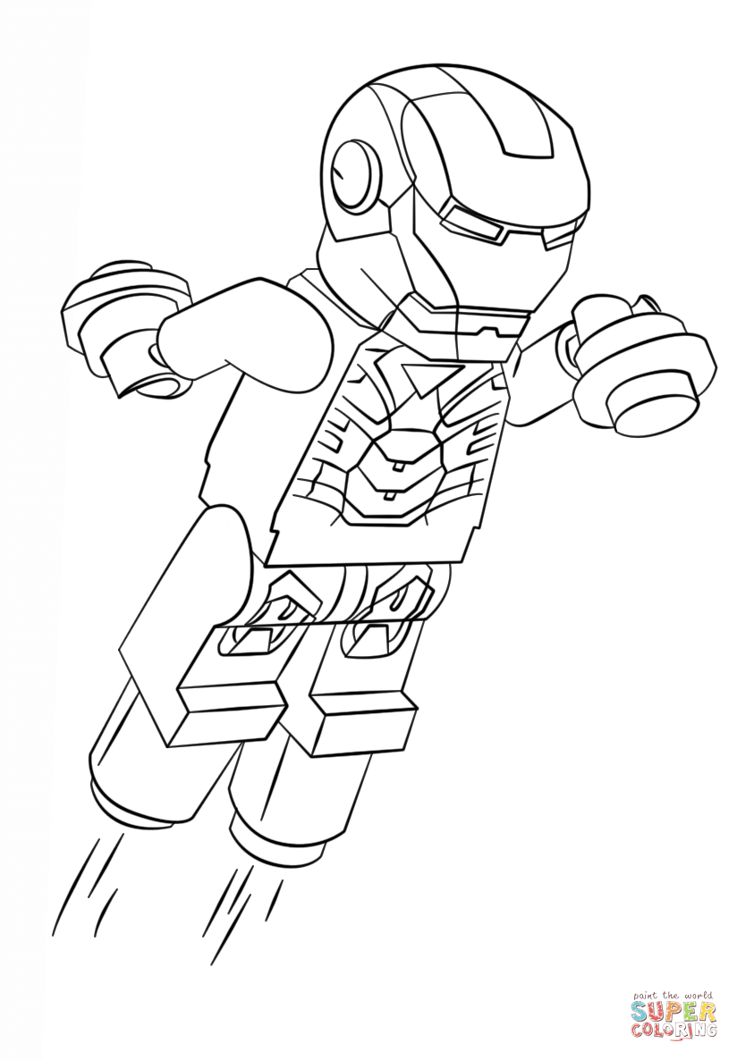 lego marvel heroes coloring pages - photo#14