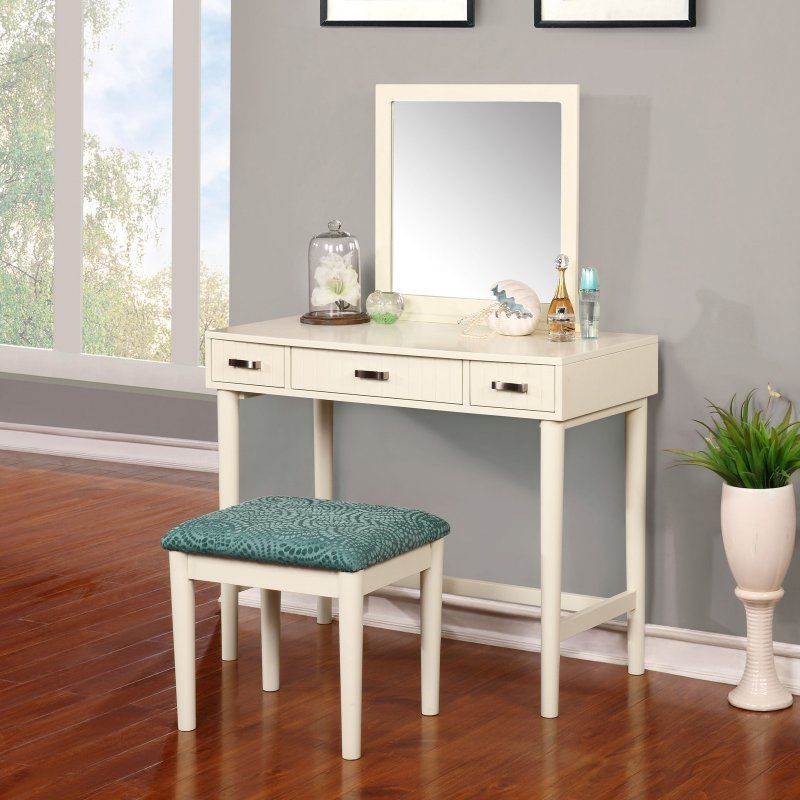 Linon Home Garbo Vanity with Bench - 580051CRM01 Products