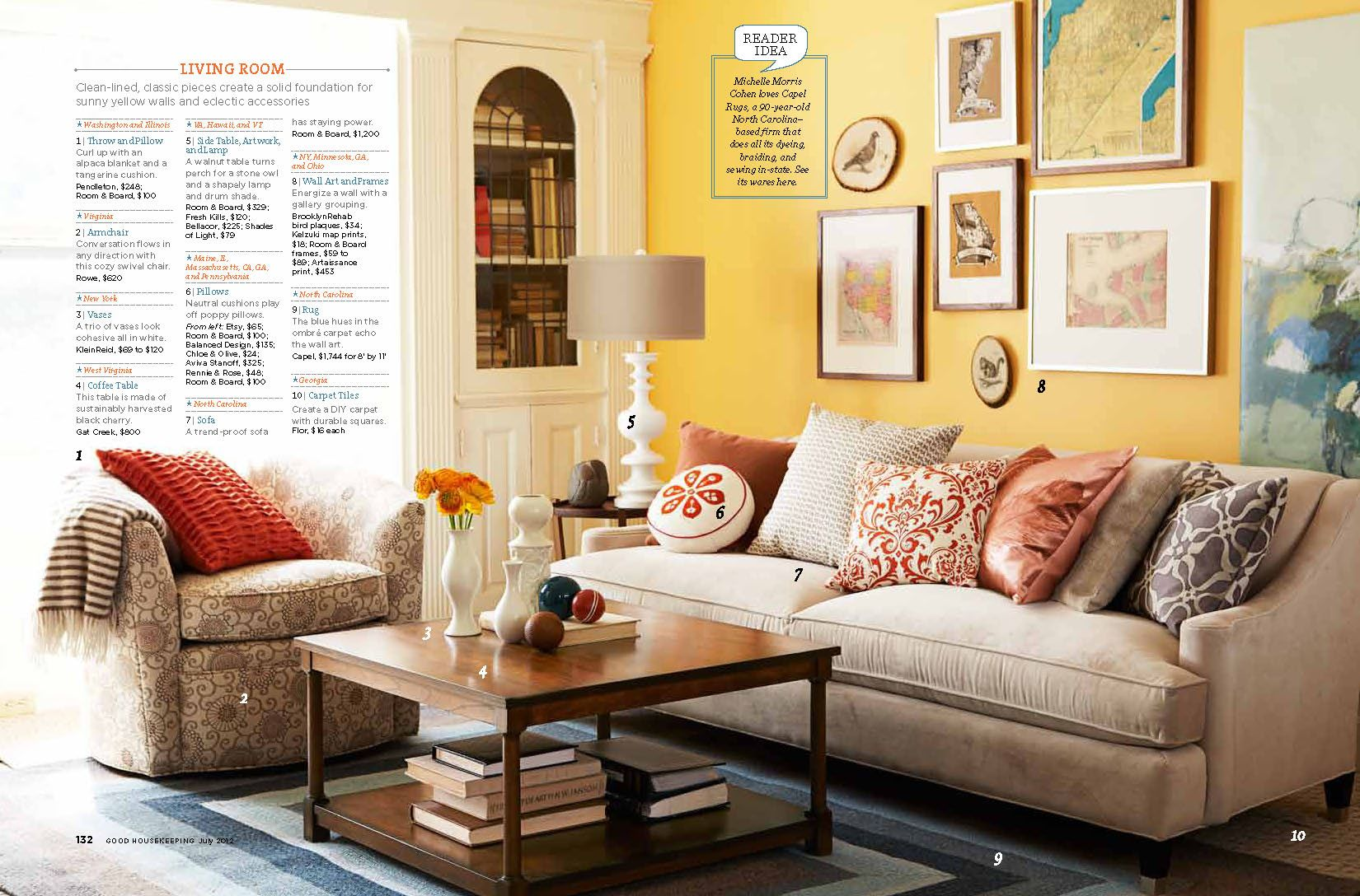 living room decor yellow walls | Yellow wall paints, Wood coffee ...