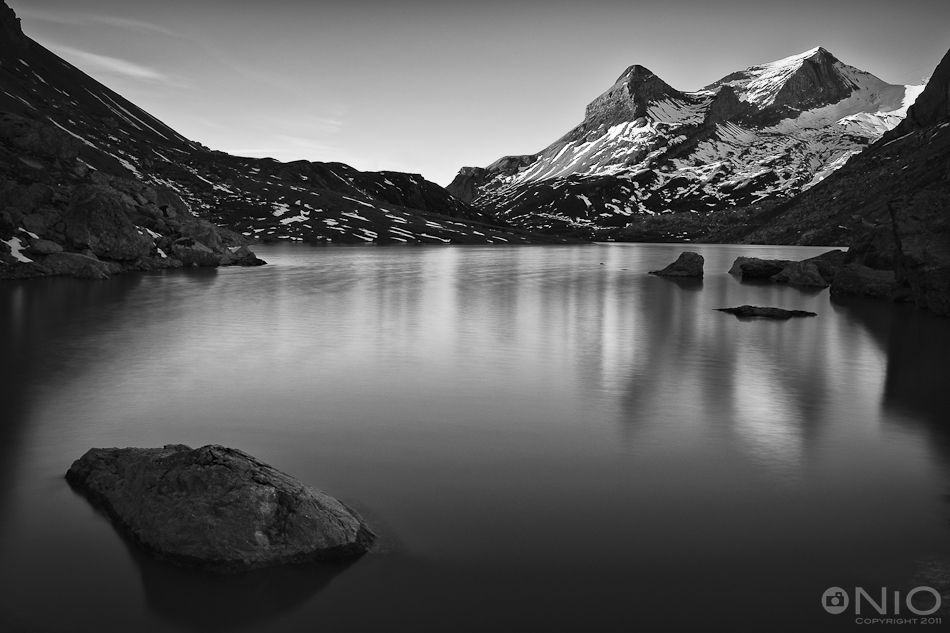 Black and white photography mountainstranquil dawn in black white nio photography alpine nature w9lgzirh