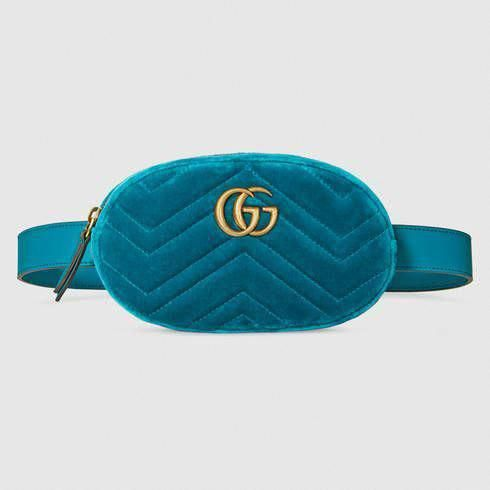 04deea7c428 GUCCI Gg Marmont Matelassé Velvet Belt Bag.  gucci  bags  leather  belt