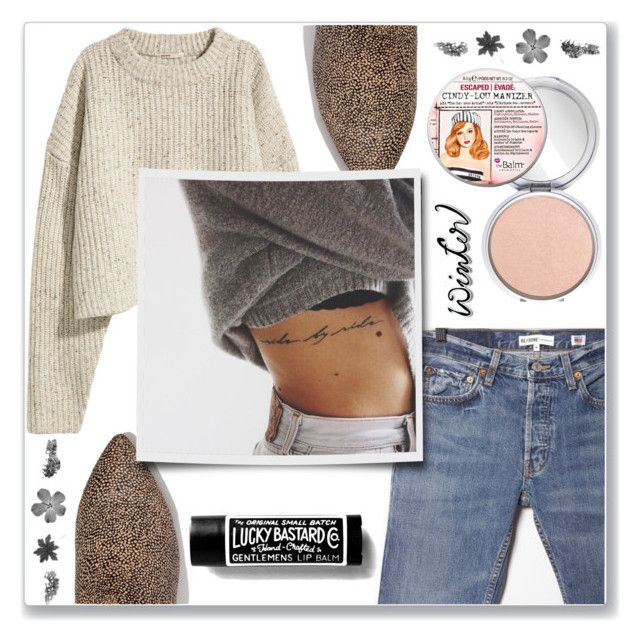"""""""#sweaterweather"""" by crsharma ❤ liked on Polyvore featuring RE/DONE, Madewell and TheBalm"""