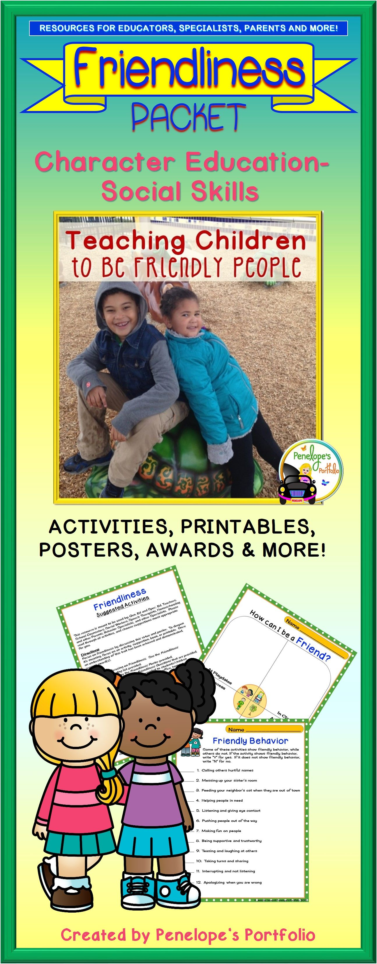 Friendship Activities And Worksheets