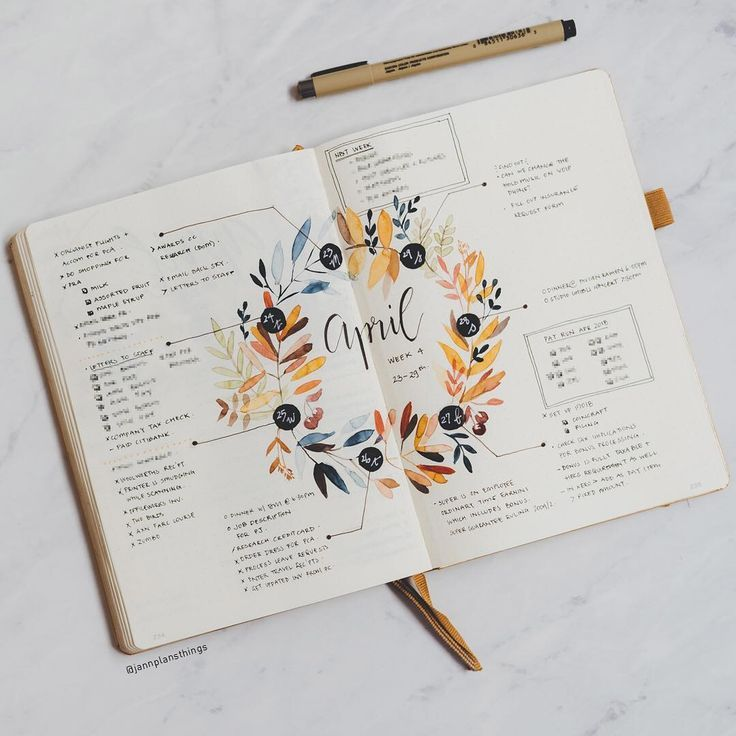 """Photo of Jann on Instagram: """"Last week all filled in! I loved using this layout. It's versatile enough that if you have a day that is longer, you can just take up more… """""""