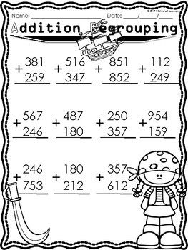 Addition Regrouping Subtraction Regrouping 2 and 3 digits