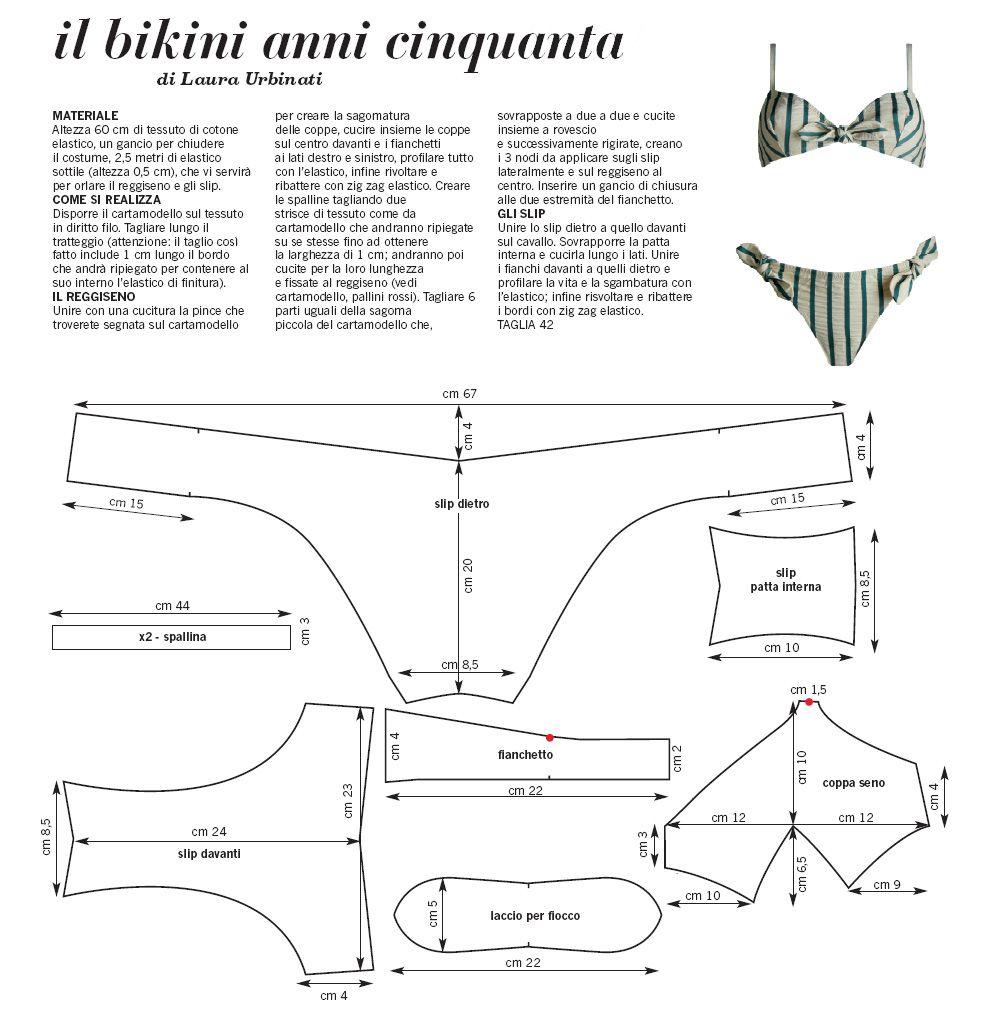 bikini draft sewing pattern | sewing | Sewing, Sewing patterns ...