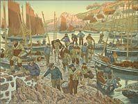 Henri Riviere. The port