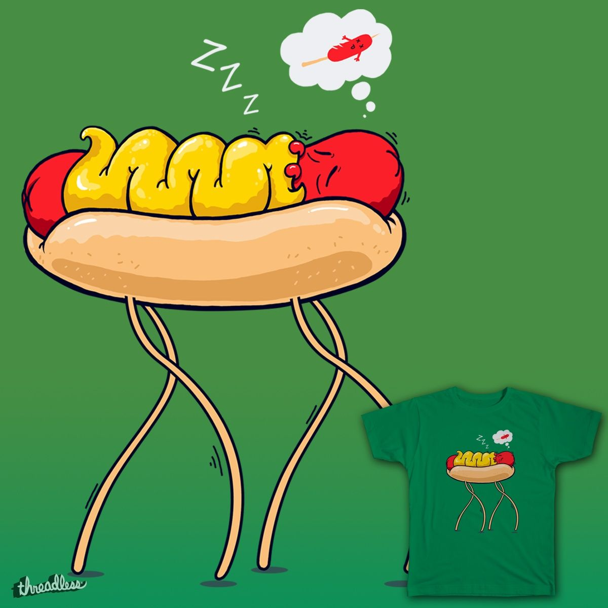 current design submitted for scoring... It is better to be on a bun rather on a stick! hope you like it! vote for my design! @Threadless