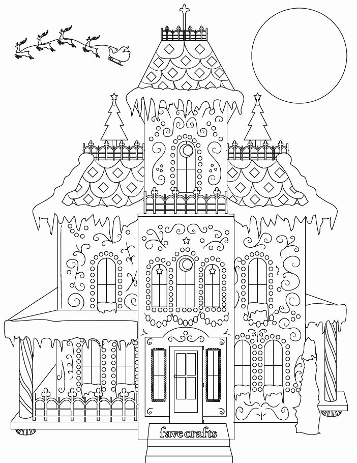 24 Gingerbread House Coloring Page House colouring pages