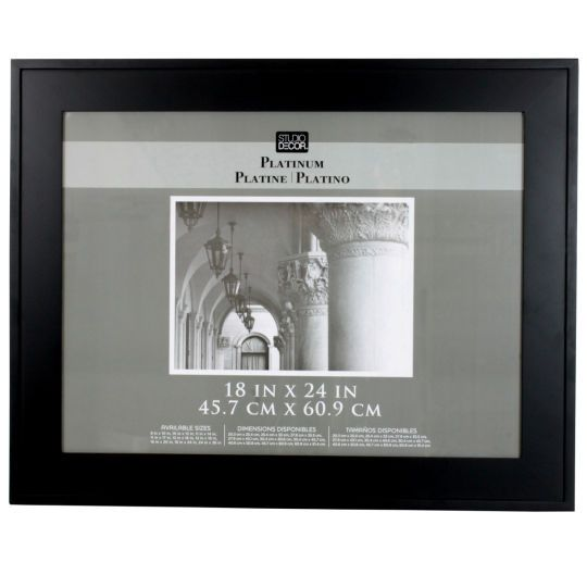 Studio Décor® Platinum Collection Hampton Frame, Black 18\