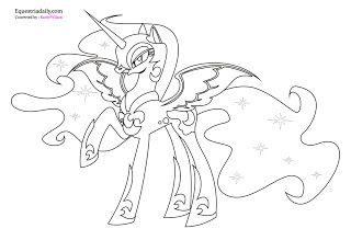 Nightmare Moon Coloring Pages Handarbejde