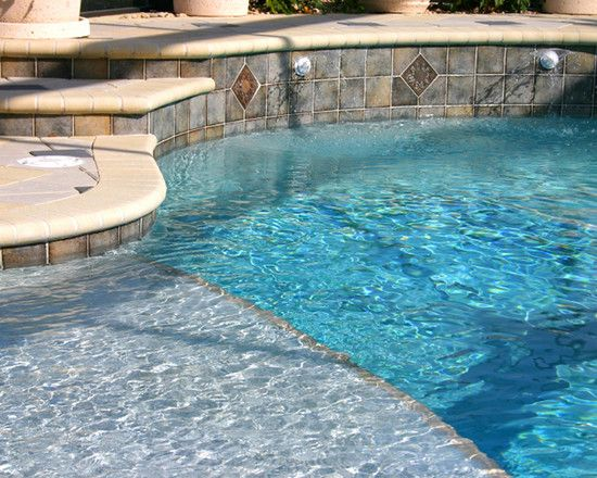 Appealing Contemporary Pool Design Ideas With Slate Stone Wall ...
