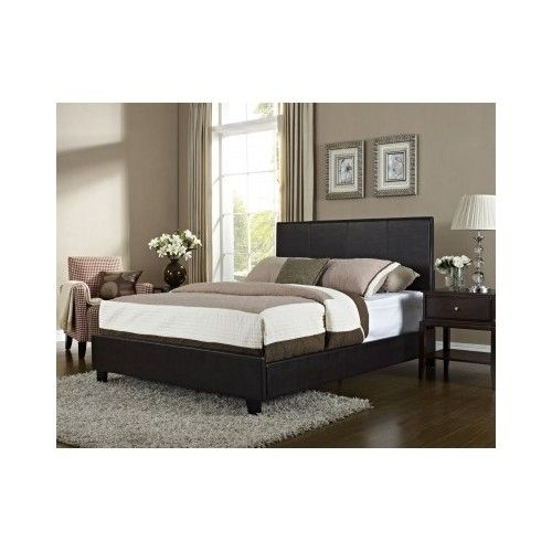Full Queen Headboard Frame Night Stand In Dark Chocolate The