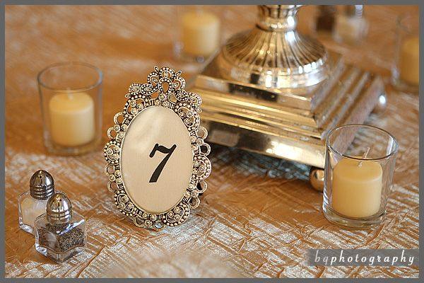 Vintage-Glam Table Numbers | Wedding Money Saving Tips and Trips ...