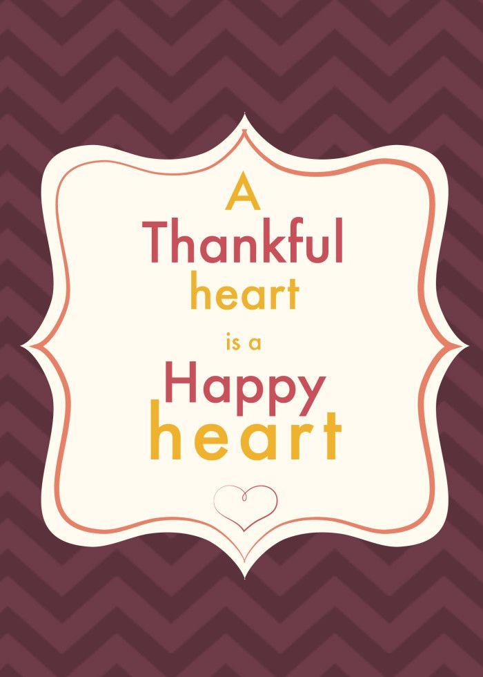 Thankful Heart Printables