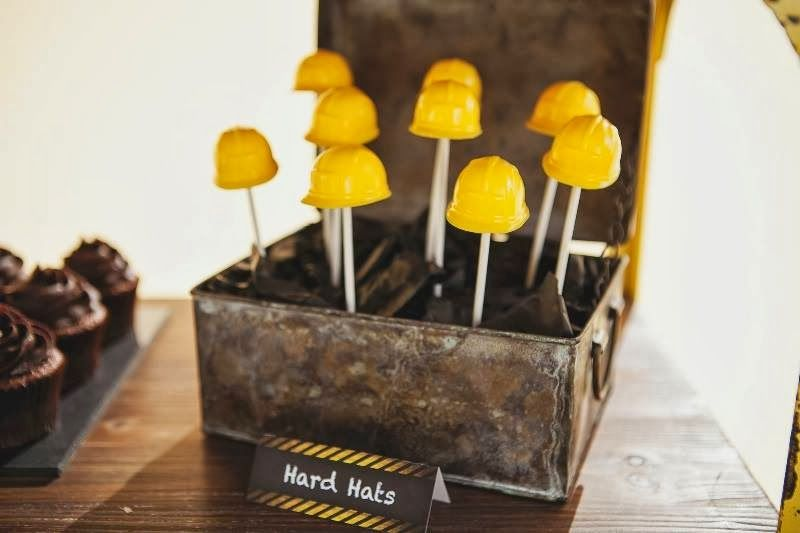 Little Big Company | The Blog: Vintage themed construction party by Denise from Dots N Spots Edible Hard Hats