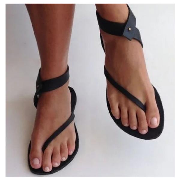 9d94407ff Black Sandals Flip Flops Ankle Wrap Shoes