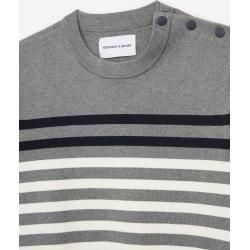 The Kooples - Grauer gestreifter Pullover aus Baumwolle - Damen