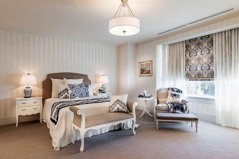 Eleganza discreta dello stile americano: Camera Da Letto In Stile Americano Guest Bedroom Design Modern Bedroom Bedroom Design