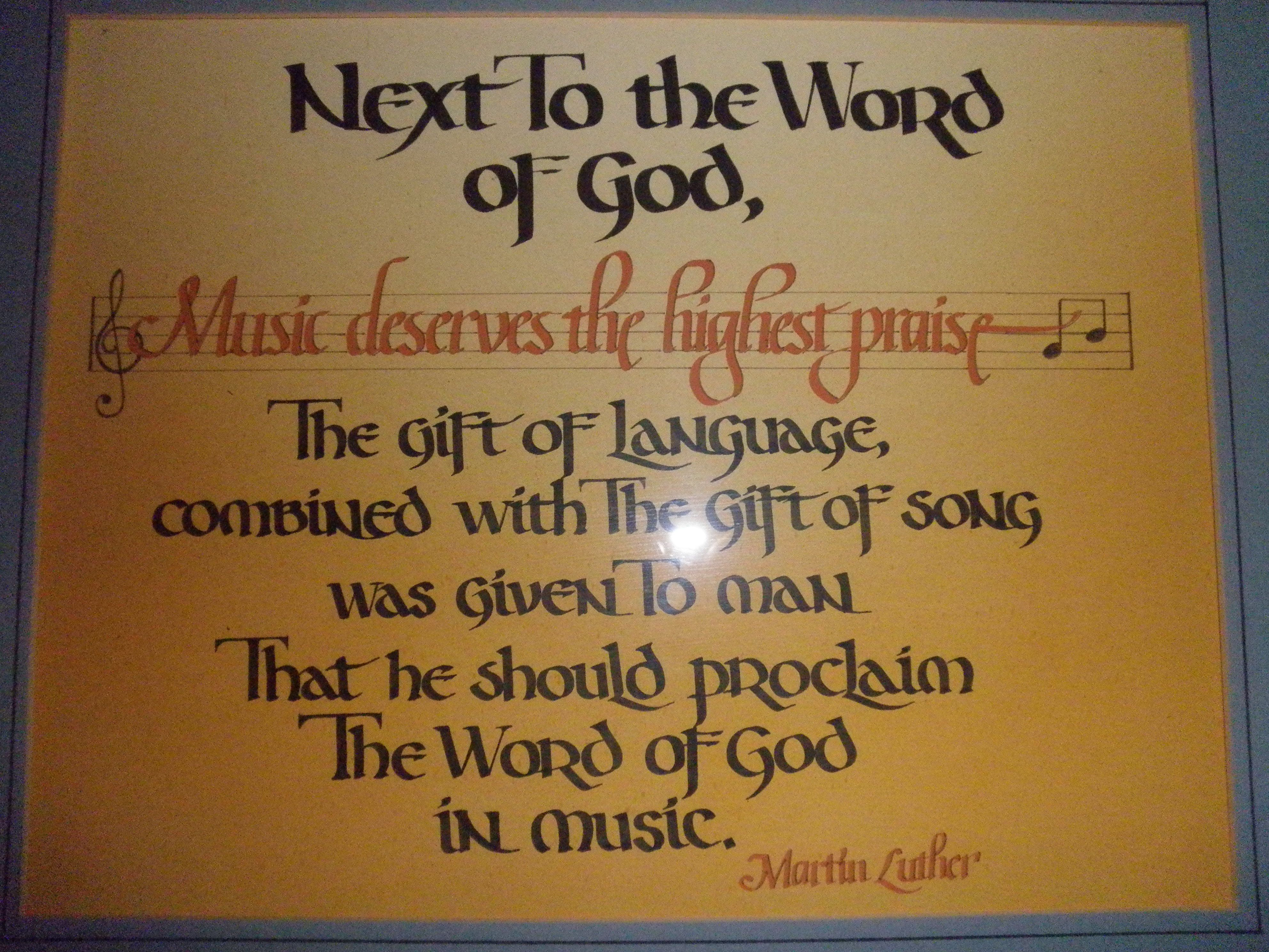 Martin Luther Quote On Music