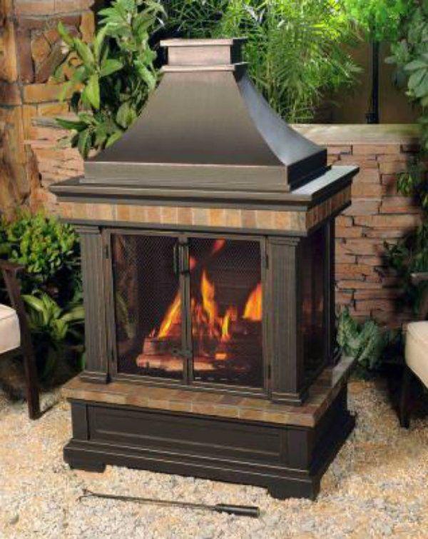 Wood Burning Outdoor Fireplace Patio Backyard Deck Heat Fire Pit Garden Decor Outdoor Gas Fireplace Outdoor Fireplace Patio Fireplace