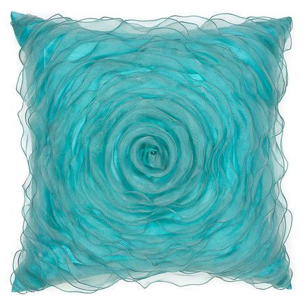Everything Turquoise: Turquoise Hollywood Pillow 20""