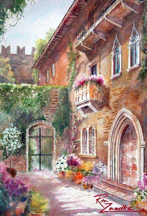 Juliet 39 S Balcony I Bought A Watercolor Very Similar To