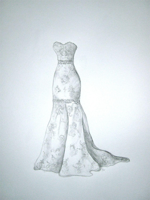 Custom Wedding Dress Sketch | Artisan | Pinterest | Wedding dress ...