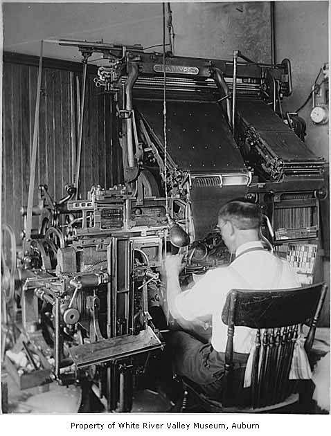 Linotype machine Type setting machine | Work | Newspaper