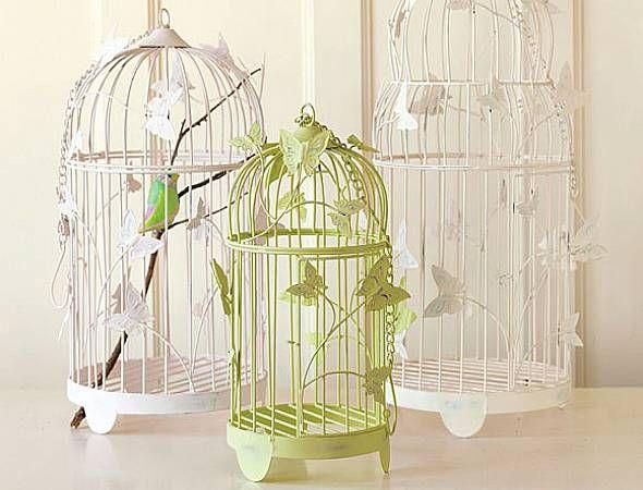 Ordinaire White Green Cage Design Home Interior