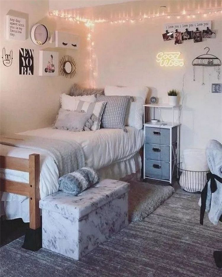 How To Decor And Remodel College Bedroom For Girls Women Fashion Lifestyle Blog Shinecoco Com College Bedroom Decor College Dorm Room Decor Dorm Room Designs